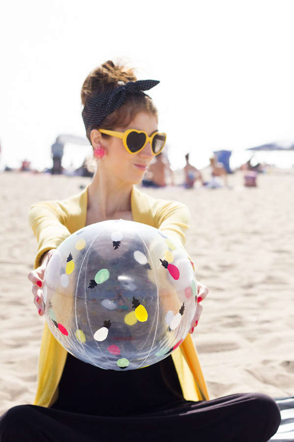 Colorfully Customized Beach Balls