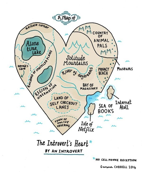 Illustrated Introvert Maps