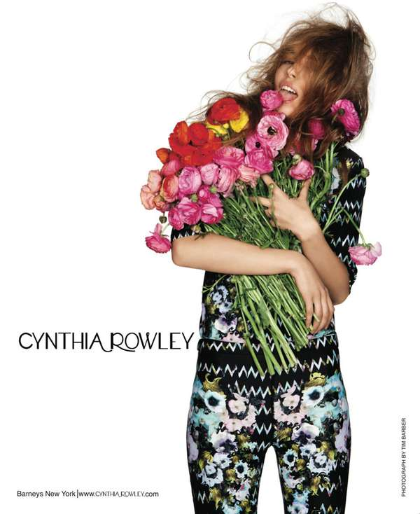 Flower-Licking Fashion Ads