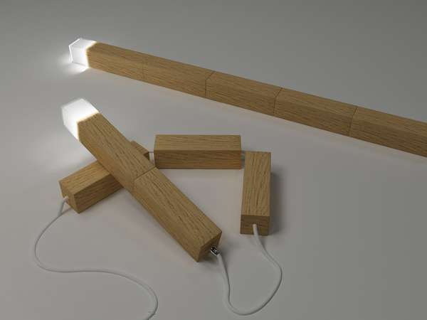 Shape-Shifting Lumber Lamps