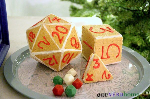 Geeky Holiday Dice Dessert
