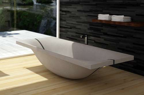 Curving Concrete Baths