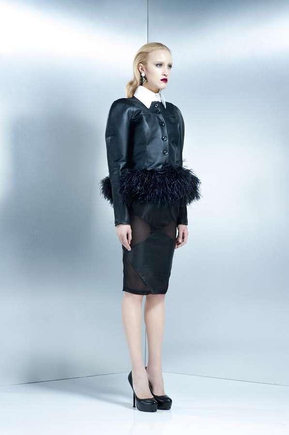 Feathery Peplum Fashion