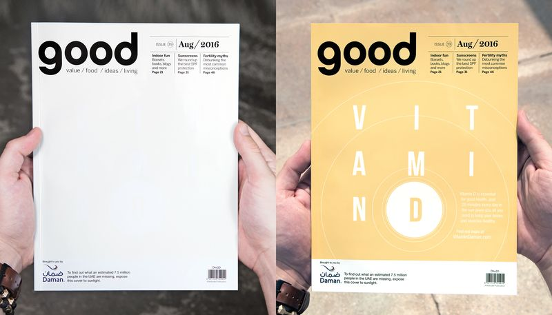 Sun-Responsive Magazine Covers
