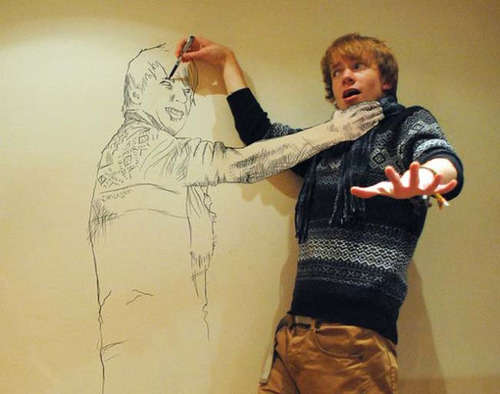 Interactive Sketched Portraits