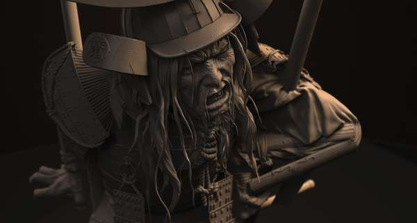 Meticulous Samurai Sculptures