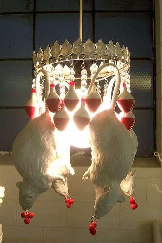 Dangling Rodent Lighting