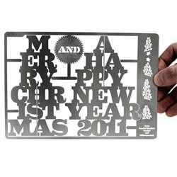 Festive Steel Cards