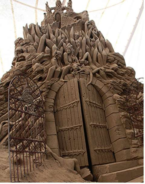 Dante's Inferno Sand Sculptures