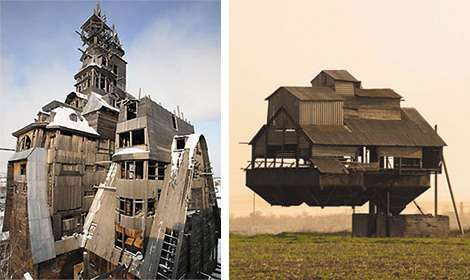 Gravity Defying Houses