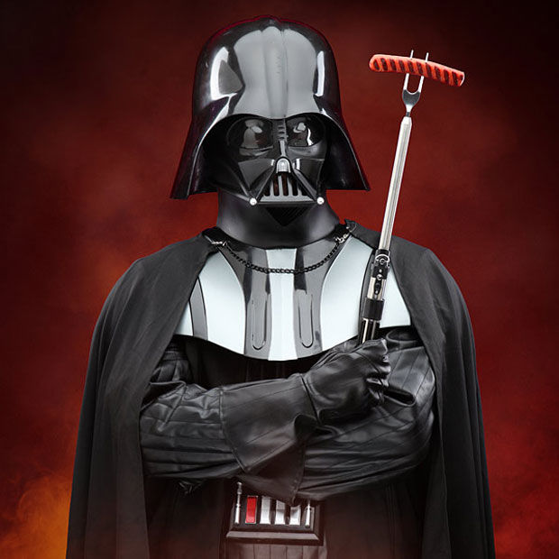 galactic grilling tools darth vader bbq fork. Black Bedroom Furniture Sets. Home Design Ideas