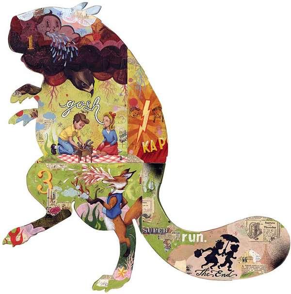 Wooden Wildlife Illustrations