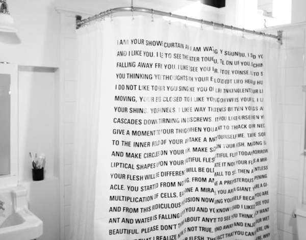 Word Nerd Shower Covers   Word Nerd Shower Covers : Dave Eggers Shower  Curtain   Nerdy