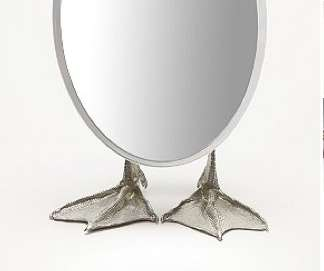 David Dear Silver Duck Mirror