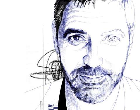 Crosshatched Celebrity Drawings