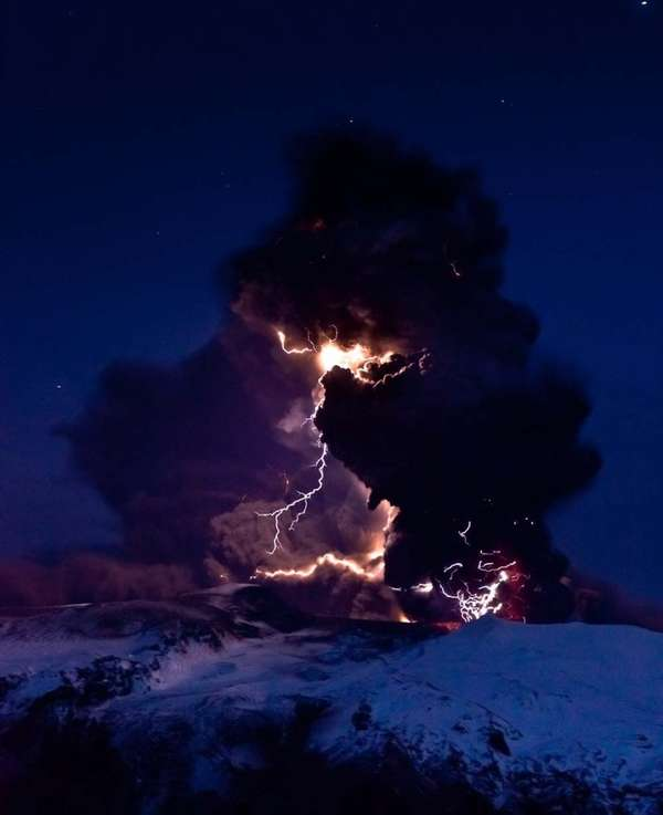 Electrifying Eruption Photography