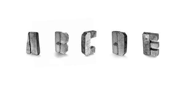 Chunky Concrete Typography