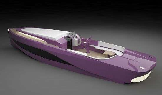 Modern Purple Yachts