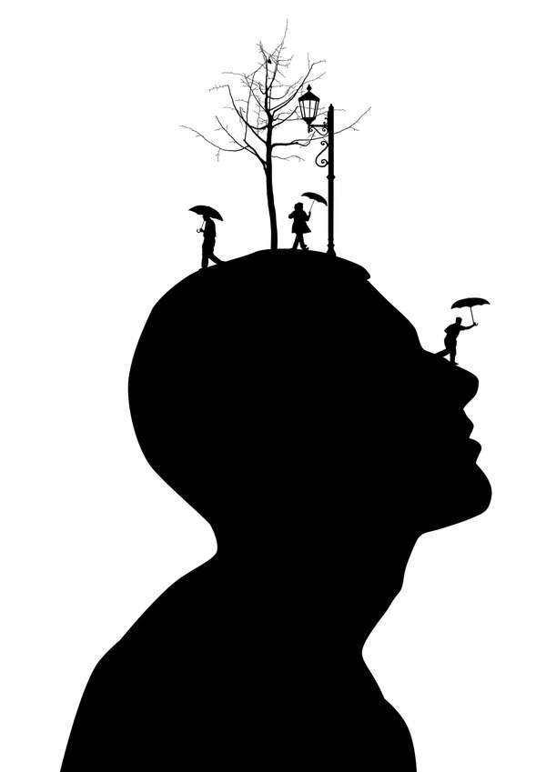Imaginative Silhouetted Heads