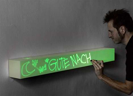 Glowing Message Boards