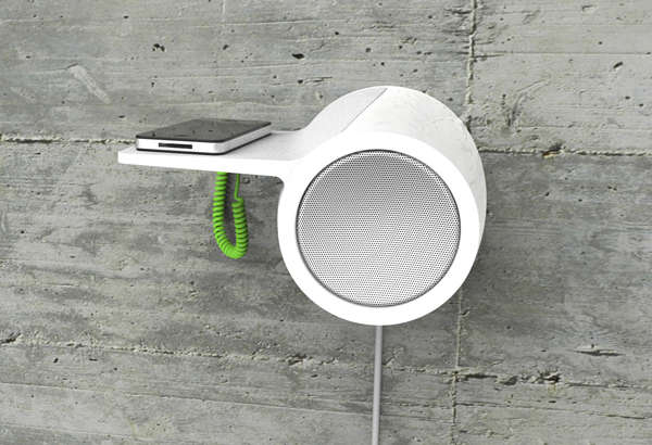 Wall-Mounted Smartphone Speakers