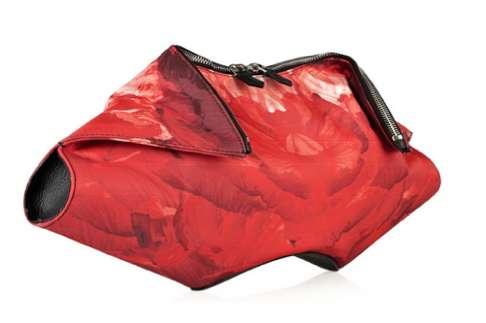 Rosy Open-Fan Handbags