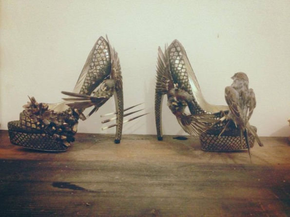 Morbid Taxidermy Pumps