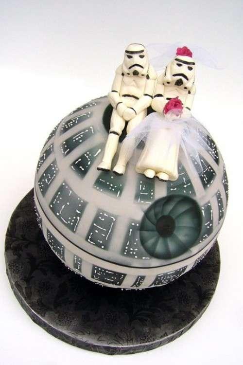 Sci Fi Matrimony Desserts Death Star Wedding Cake