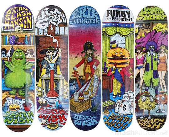 Terrifying Fast Food Skateboards