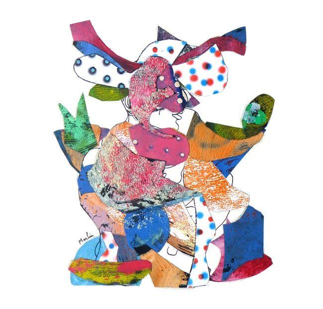 Textural Cubism Artwork