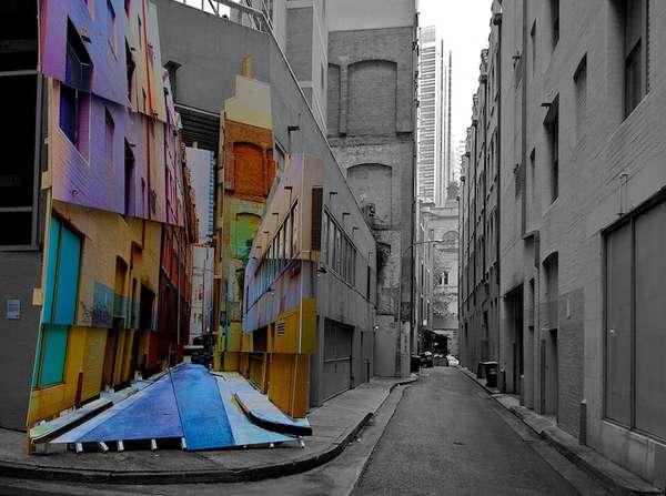 Rainbow Illusion Art