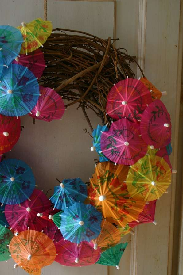 DIY Umbrella Wreaths