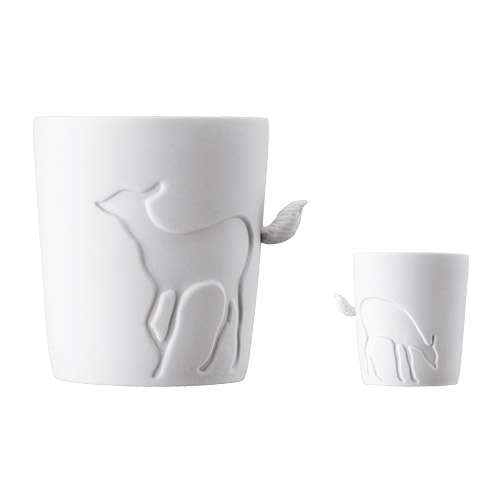 Animal Tail-Accented Mugs