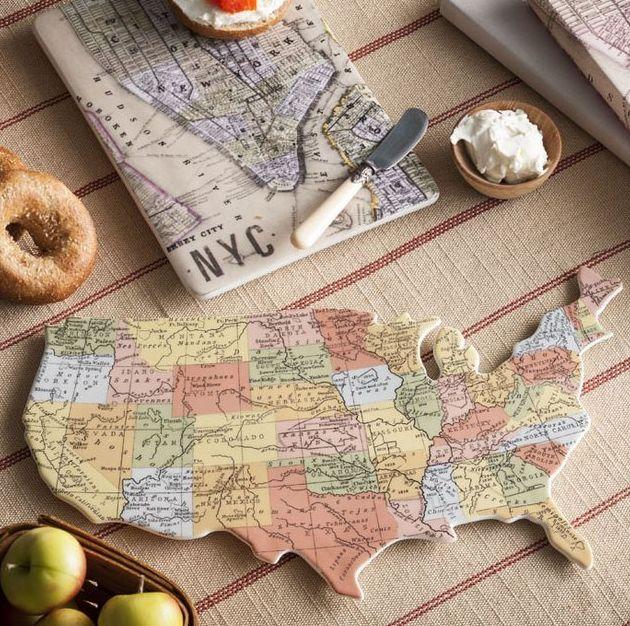 Cartographic Kitchen Decor