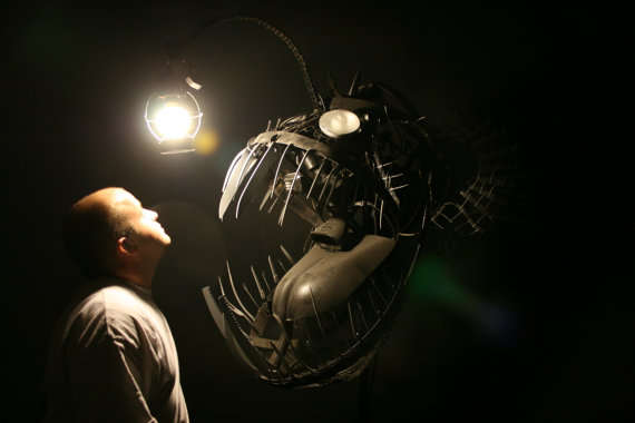 Recycled Creature Lamps