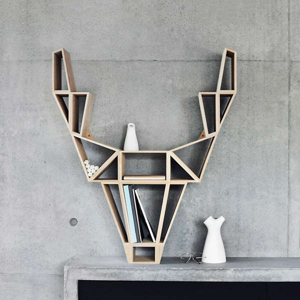 Abstracted Animal Shelving