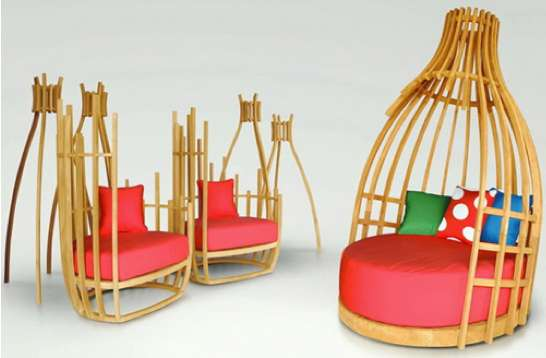Eccentric Teepee Seating