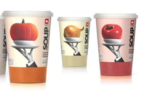 Delhaize Soup Packaging