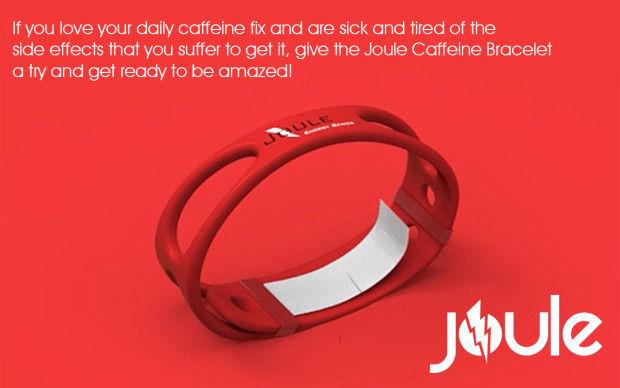 Caffeine-Diffusing Bracelets