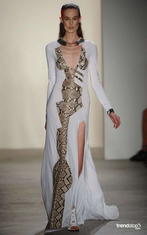 Glamorous Snakeskin Gowns