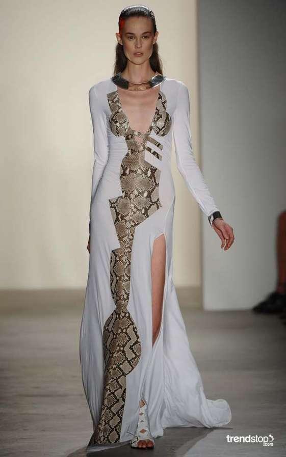 Glamorous Snakeskin Gowns