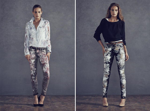 Splattered Denim Collections