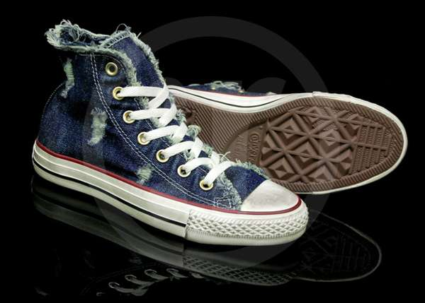 Denim Distressed Chuck Taylor