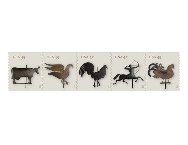 Antiquated Climate-Themed Postage