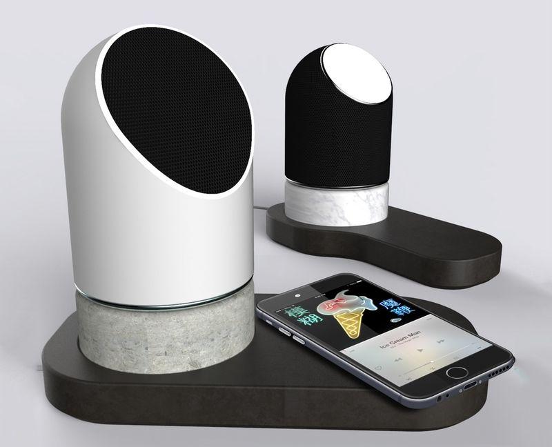 Ceramic Concrete Design Speakers