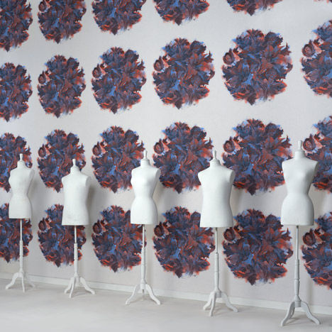 Avant-Garde Patterned Wallpaper
