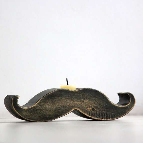 designatelierarticle mustache candle holder
