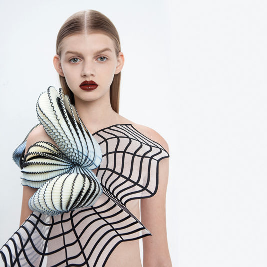 Graphic 3D-Printed Fashion