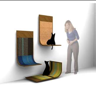 Wall Mounted Scratching Posts Bent Plywood Scratcher