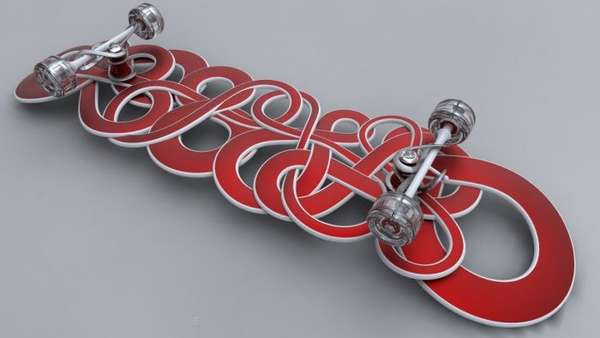 Curly Designer Skateboards – IPSVM Board is an Artistic Form of Personal Transit